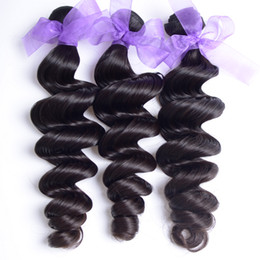 Wholesale Malaysian Remy Hair Sale - On Sale Malaysian Virgin Hair Weaves Loose Wave 3Pcs Lot Malaysian Wavy Remy Hair Weave 95-100G Bundle Human Hair Extensions Loose Wave
