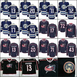 Wholesale Green Cam - 2018 men Columbus Blue Jackets 13 Cam Atkinson 20 Brandon Saad 43 Scott Hartnell 71 Nick Foligno 72 Sergei Bobrovsky Hockey Jerseys stitch
