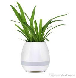 2 pc Jardim Mini Vasos de Flores Night Light Plantadores de Toque Inteligente Potes Lâmpada Recarregável Sem Fio Bluetooth Planter Melhor Presente Para As Crianças wn252 de