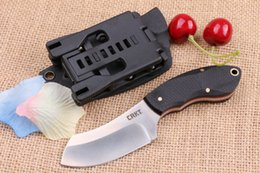 Wholesale Men Razor Blade - CRKT Small razor straight Camping Survival Knife Gift Knife Outdoor Tools OEM Xmas Gift for man 1pcs sample freeshipping