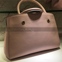 Wholesale Interior Design Pink - new fashion hot woman lady genuine leather L Embossed letter totes casual messengerbag L brand design handbag
