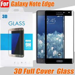 """Wholesale Iphone Mirror Lcd - Note Edge 9H 0.3mm 3D Full Cover Tempered Glass For Samsung Galaxy Note Edge 5.6"""" Toughened LCD Explosion Proof Screen Protector"""