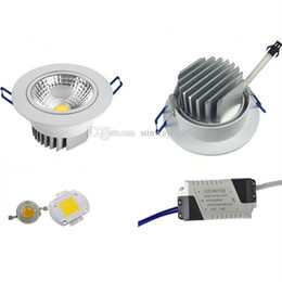 Wholesale Ul 5w Spot Light - Actual Watt Recessed led ceiling down lights Cree cob downlight dimmable downlights 5w 7w 9w 12w 15w 21w adjustable angle LED spot light