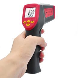 Wholesale Infrared Ir Digital Thermometer - PEAKMETER Digital Infrared Thermometer Professional Non-contact IR Temperature Measurement Gun Device Laser Temperature Device +B