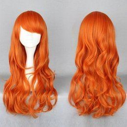 Wholesale One Piece Cosplay Nami - Wholesale free shipping >>>>Long One Piece Nami after two years Orange Cosplay Wig Anime Wig