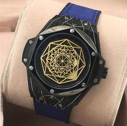 Wholesale Big Bang Watch Strap - New Luxury High Quality BIG BANG quartz Mens Watch 415.NX.1112.VR.MXM16 Silver Dial Leather Strap Gents Watches Four - dimensional space