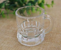 Wholesale Unique Mug Designs - 25ml unique design wholesale whisky glass shot glass with handle coffee glass cup delicate small tea mug