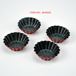 Wholesale Molds Mini Cupcakes - Wholesale- Mini Tart Molds Quiche Cupcake Pan Round With Non-Stick Coating Flute Bakery Products Confectionery Bake Cake Tins Pan