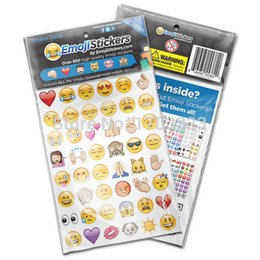 Wholesale Die Stickers - 2017 New Emoji Sticker Pack 912 Die Cut Stickers For iPhone Instagram Twitter Large Viny Free shipping