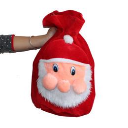 Wholesale Santa Claus Backpack - Chrismas Gift Bags Backpack Cartoon Santa Gift Wrap Claus Super Soft Sack Christmas Candy Bags drawstring 45*35cm