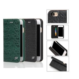 Wholesale Iphone Leather Cover Crocodile - Crocodile Pattern Leather Kickstand Wallet Case With Card Slot Flip Cover For Samsung S8 Iphone X 8 7 6s plus With Retail Package