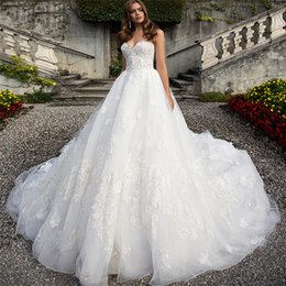 Wholesale Sexy Corsets For Size 12 - Off the Shoulder Sweetheart Ball Gown Wedding Dress 2017 Elegant Dresses for Weddings Princess Corset Dress Bridal Gowns