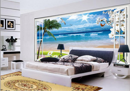 Wholesale Outside Window - custom photo luxury 3d stereoscopic wallpaper The scenery outside the window is clear 3d room wallpaper landscape