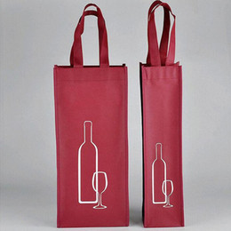Wholesale Wholesale Holiday Wine Bags - Portable Non-woven Fabric Red Wine Storage Bag For One Double Bottles Wine Package Gift Party Packing Handbags ZA3538