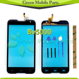 """Wholesale Blue Protective Film - Wholesale- 100% Tested One By One Touch Screen For BlackView Bv5000 5.0""""inch Touch Panel With Free Tools Blue Protective Film"""