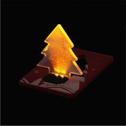 tarjetas de navidad Rebajas Año Nuevo Decoración navideña Bolsillo Plegable Forma de árbol de Navidad Luz de noche LED Tarjeta de crédito Tarjeta de led delicada luz de bolsillo
