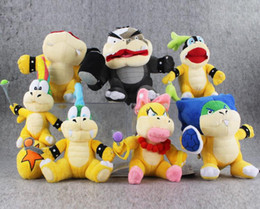 Wholesale Super Mario Bros Soft - Mario Bros Koopa7 Styles Super Mario Bros Koopa Plush Toy Soft Stuffed Doll for kids gift free shipping retail on sale