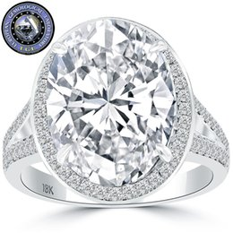Wholesale Gold D Ring - 8.08 EGL Certified D-SI2 Oval Cut Diamond Engagement Ring 18k White Gold