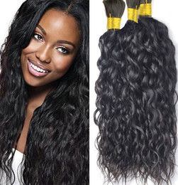 Wholesale Bulk Indian Hair For Braiding - Mongolian water wave Bulk Hair 8A Grade Unprocessed Human Hair Bulk For Braiding 16-30inch Natural Color Free Shipping from huihao_hairs