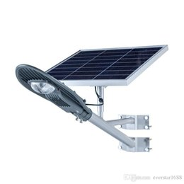 Wholesale Outdoor Lights Integrated - IP65 Integrated All in One Remote Control 20W 30W Solar Power LED Street Light Lamp Outdoor Garden Lighting with 5M Cable