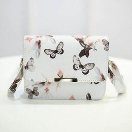 Wholesale W2 Wholesale - Wholesale- Fashion Women Messenger Bags 3D Butterfly Printed Crossbody Shoulder Bag Travel Bags leather handbags ladies pouch bolsas W2