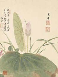 Wholesale Traditional Chinese Painting Flowers - Wall Pictures Home Decoration Classic Ink Painting Landscape Painting Traditional Chinese Art One Panel Unframed The Atlas of Flowers -2