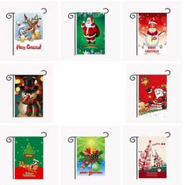 Wholesale Outdoor Christmas Banners - Christmas Garden Flag Party Home Decor Outdoor Hanging Polyester Garden Flag Christmas Xmas Decorations banner 30*45cm KKA2352