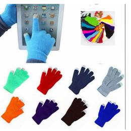 Wholesale Gloves Mobile Phone - Sport gloves Touch Screen Knitting Warm Gloves Touch Screen Glove Mobile Phone Full Finger Mittens Warmer Knit sport Gloves KKA2124