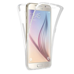 Wholesale Galaxy S4 Body - Soft TPU Full body Protective Clear Cover For Samsung Galaxy S4 S5 S6 S7 Edge A3 A5 A7 J5 J7 2016 J1 J120 J510 G530 Phone Cases