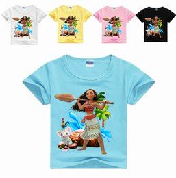 Wholesale Cartoon Shirts For Girls - Big Kids Shirts Summer Cartoon Printed Cotton Tops For Baby Fashion Children Boys Girls Short Sleeve Outfits