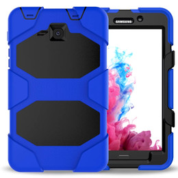 Wholesale Case For Galaxy Tab3 - Military Heavy Duty ShockProof Rugged Impact Hybrid Tough Armor Case FOR SAMSUNG Galaxy Tab P5200 T550 T560 T580 P580 T810 T820 1pc lot