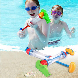 Wholesale Sand Shovel Toys - fashion beach toys melon toy Water gun toys in beach Shovel Rake Sand Bath Toy Outdoor Fun Swimming Sprayer Summer Beach Toy KKA1953