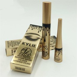 Wholesale Best Lengthening Mascara - Best Quality!! kylie jenner 2in1 mascara Liquid eyeliner pencil Birthday Edition Kylie 2ni1 Waterproof mascara VS 3d fiber lashes DHL