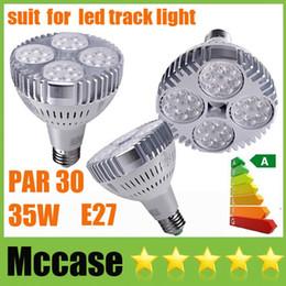 Wholesale High Power Led Ceiling Fixtures - High Bright 35W 3500LM PAR30 LED Spotlight E27 bulbs OSRAM Lamps CRI>88 85-265V Display Shop Store Market Showcase Fixture Ceiling Downlight
