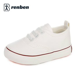 Wholesale White Canvas Shoes For Toddlers - Children canvas shoes kids shoes for girl white boys sneakers 2017 spring autumn toddler shoes girls fashion single