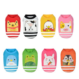 Wholesale Pet Fleece Sweater - 8 Colors Spring Warm Pet Dog Clothes Soft Cotton Fleece Vest Jacket Cute Cartoon Clothing Costume For Large Puppy Dogs Chihuahua XS-XXL