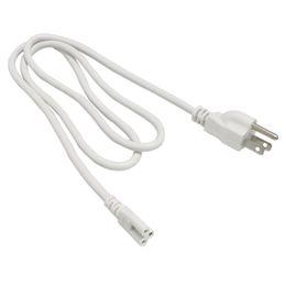 2019 cavi di alimentazione standard Cavo di collegamento T5 T8 con cavo di alimentazione standard con spina US standard per T5 T8 Tubi a led integrati 3 Prong 150cm Cable cavi di alimentazione standard economici