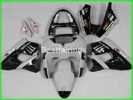 Wholesale Kawasaki Zx9r Price - Lower price bodywork fairing kit for Kawasaki Ninja ZX9R 98 99 white black motorcycle fairings set ZX9R 1998 1999 TY54