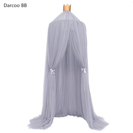 Wholesale Nets Curtains - Wholesale- Children's Room Decoration Playtent Princess Hung Dome Mosquito Net Bed Curtain Tent Play Tent Hanging Kids Teepees