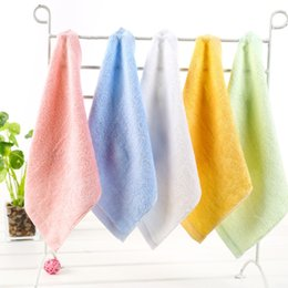 Wholesale Bamboos Wipes - 2017 new infant Towels Soft bamboo fiber Baby handkerchief kids Bibs Washcloth Wipes 5 colors 25*25cm C1828
