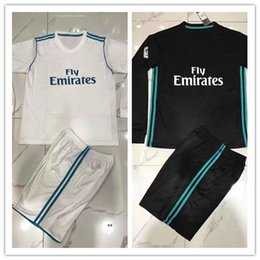 Wholesale Wholesale Real Madrid - 2017 2018 Player Version Soccer Jersey Ronaldo ASENSIO Long Sleeve Football Jeresys 2017 18 Real Madrid Home Away Soccer Jerseys