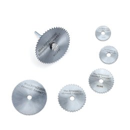 Wholesale Dremel Speed - New 7pc HSS Circular Wood Cutting Saw Blade Discs for Dremel Rotary Tool Mandrel With Mandrel Max 20000 RPM Speed