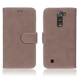 Wholesale Iphone Flip Case Power - For Huawei P8 P9 Lite Plus Honor 5A 5C LG k7 k8 Stylus 2 X Power Case Wallet Leather Flip Retro Matte TPU Pouch Stand Frosted Photo Cover