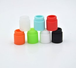 Wholesale Drip Dips - TFV8 Silicone Mouthpiece TFV12 Cover Silicon Drip Tip Disposable Colorful Rubber Test Dip Tips Fit TFV8 Big Baby DHL Free