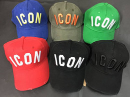 Wholesale Ball Hats - icon cap 100% Cotton Luxury Brand Cap Icon Embroidery Hats For Men Cap 6 panel Black dsq baseball hat
