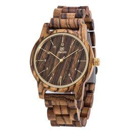 Wholesale Wood Wrist Watches - Luxury Top Brand Uwood Men`s Wood Watches Men and Women Quartz Clock Fashion Casual Wooden Strap Wrist Watch Male Relogio