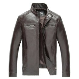 Wholesale Haining Fur - New Style Brand Luxury Fashion Men's Leather Jacket 5XL Business Casual Haining Leather Jacket Men Coats Jaquetas