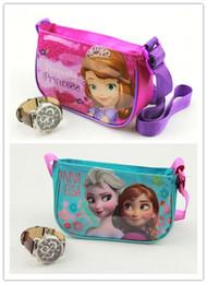 Wholesale Small Pvc Shopping Bags - Elsa anna children's cartoon shoulder bag, Sophia small bag, children's cartoon fashion shopping bag 16*10cm