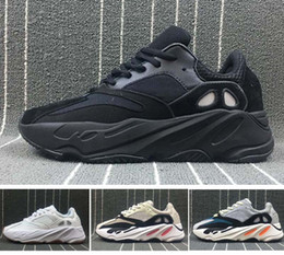 Wholesale Running Wave - 2018 UPCOMING WAVE Runner 700 BOOST Sneaker Men's & Women's Lover Running Sport Shoes Solid Grey Chalk White Core Black Size US5.5-US11.5