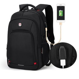 Wholesale Male Computer Backpacks - BALANG Laptop Backpack for 15.6 inch Charging USB Port Computer Backpacks Male Waterproof Man Businesss Dayback Women Travel Bags